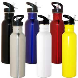 custom printed or engraved sports drink bottles, water bottles