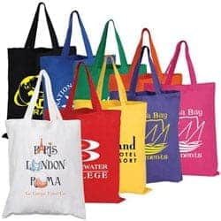 Custom printed promotional cotton tote bags