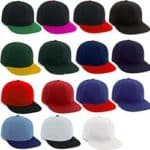 Flat Peak Premium Cotton Twill Caps