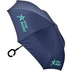 Promotional The Inverter Umbrella With C Handle