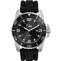 Promotional Black Face Watch With Silicon Band