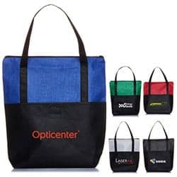 Promotional Crosshatch Tote Bag Wiith Pocket